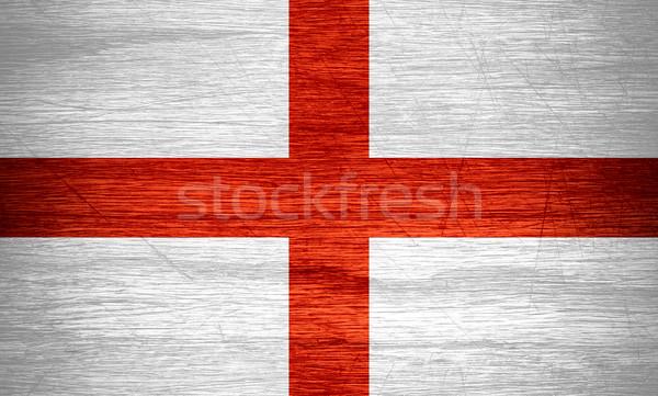 Bandiera Inghilterra english banner legno texture Foto d'archivio © MiroNovak