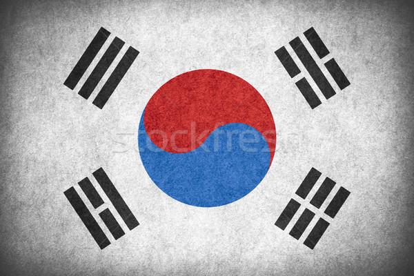 Bayrak Güney Kore güney afiş kâğıt kaba Stok fotoğraf © MiroNovak