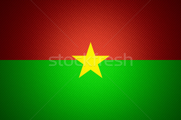 Vlag Burkina banner abstract textuur Stockfoto © MiroNovak