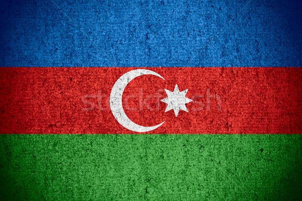 Banderą Azerbejdżan banner szorstki wzór tekstury Zdjęcia stock © MiroNovak