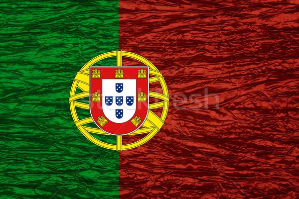Bandeira Portugal bandeira lona textura Foto stock © MiroNovak