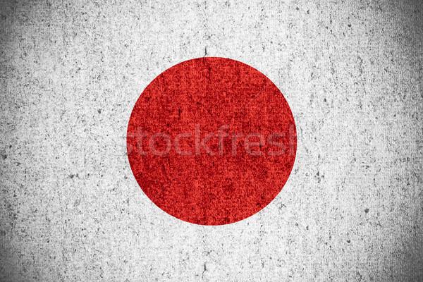 Banderą Japonia japoński banner szorstki wzór Zdjęcia stock © MiroNovak