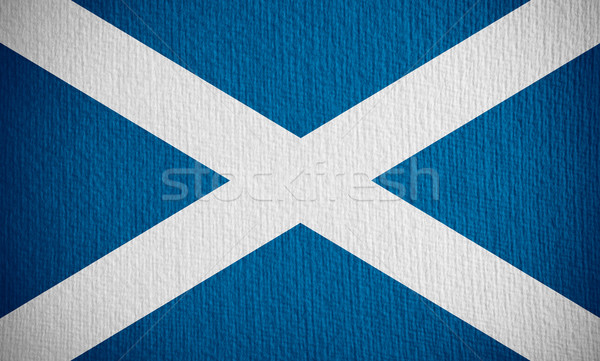 Vlag Schotland banner papier Stockfoto © MiroNovak