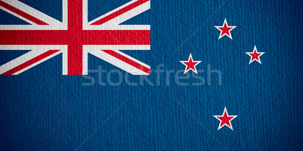 Vlag New Zealand banner papier Stockfoto © MiroNovak