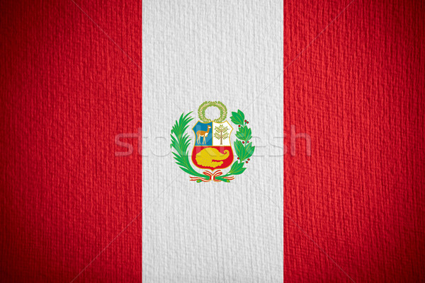 Bayrak Peru afiş kâğıt doku Stok fotoğraf © MiroNovak