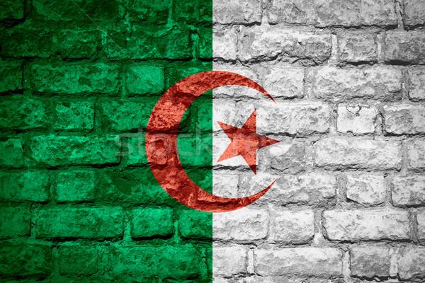 Pavillon Algérie bannière brique texture Photo stock © MiroNovak