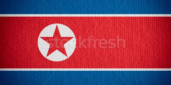Zászló észak szalag papír Stock fotó © MiroNovak