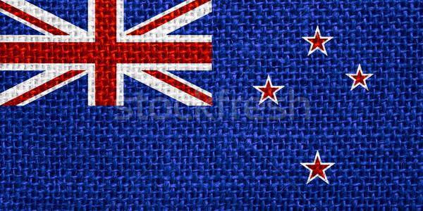 Zászló Új-Zéland szalag vászon háttér Stock fotó © MiroNovak