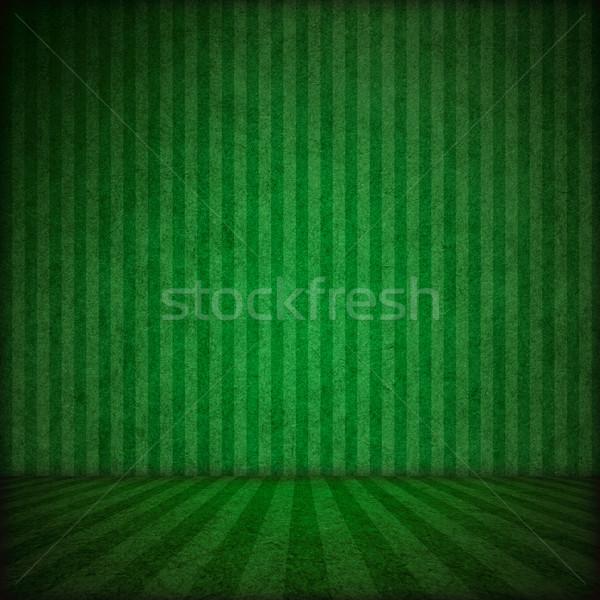 Színpad zöld csíkok minta textúra absztrakt Stock fotó © MiroNovak