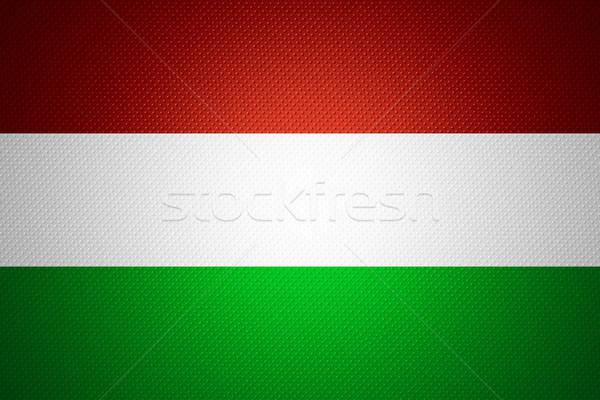 Bandeira Hungria húngaro bandeira abstrato textura Foto stock © MiroNovak
