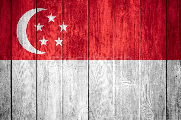 Stock photo: Singapore flag