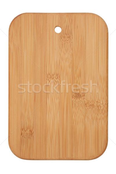 Fából készült vágódeszka izolált fehér kenyér tábla Stock fotó © MiroNovak