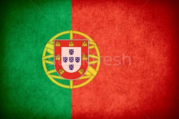 Vlag Portugal banner papier ruw patroon Stockfoto © MiroNovak