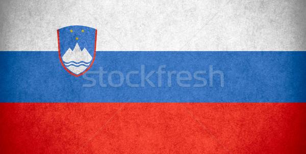 Bandeira Eslovenia bandeira papel áspero padrão Foto stock © MiroNovak