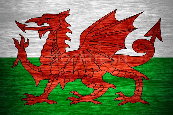 Bandeira país de gales bandeira textura Foto stock © MiroNovak