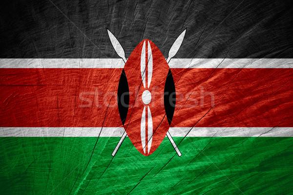 フラグ ケニア バナー 木製 テクスチャ ストックフォト © MiroNovak