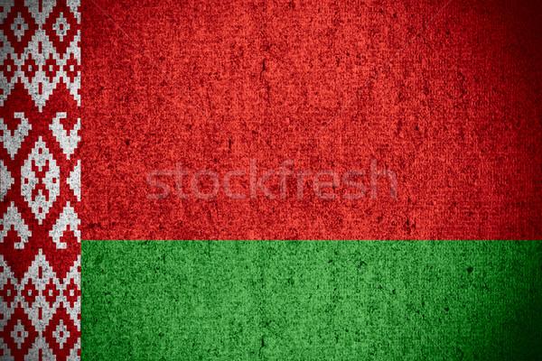 Zászló Fehéroroszország szalag durva minta textúra Stock fotó © MiroNovak