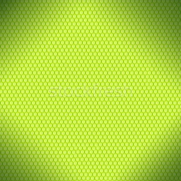 Honingraat groene zeshoek abstract textuur achtergrond Stockfoto © MiroNovak
