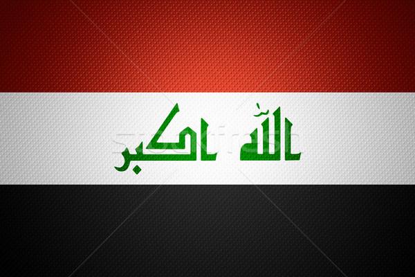 Bandeira Iraque bandeira abstrato textura Foto stock © MiroNovak