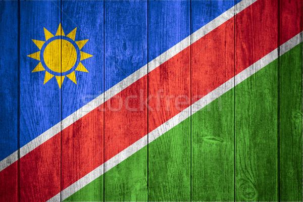 флаг Намибия белый синий желтый красный Сток-фото © MiroNovak