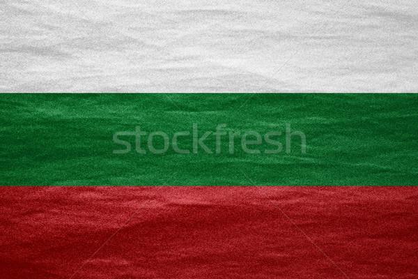 Vlag Bulgarije banner doek ruw patroon Stockfoto © MiroNovak