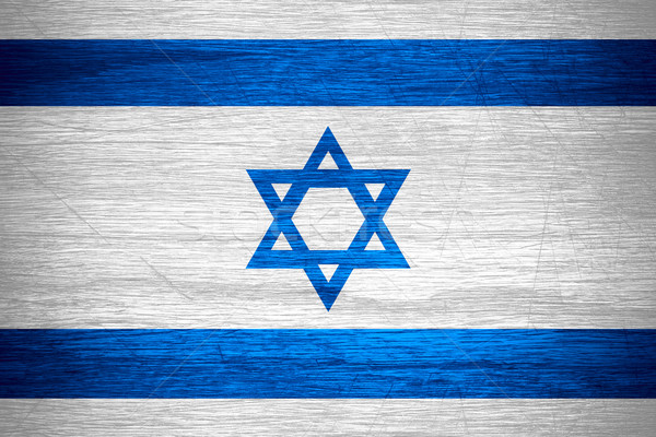 Flagge Israel Banner Holz Textur Stock foto © MiroNovak