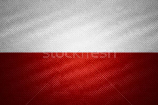 Pavillon Pologne bannière résumé texture Photo stock © MiroNovak