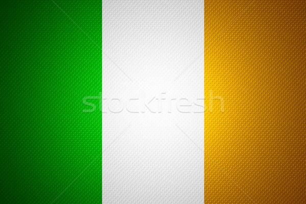 Banderą Irlandia irlandzki banner streszczenie tekstury Zdjęcia stock © MiroNovak