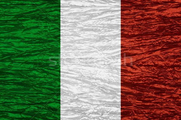Bandeira Itália italiano bandeira lona textura Foto stock © MiroNovak