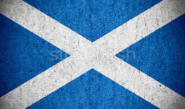 Bandeira escócia bandeira áspero padrão textura Foto stock © MiroNovak