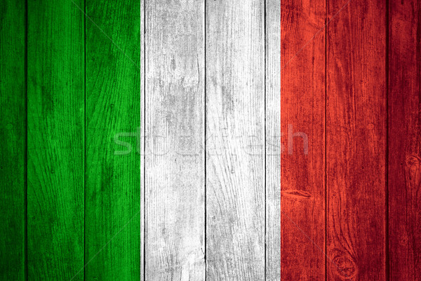 Zászló Olaszország fehér piros zöld olasz Stock fotó © MiroNovak