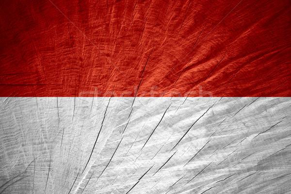 フラグ インドネシア インドネシアの バナー 木製 テクスチャ ストックフォト © MiroNovak