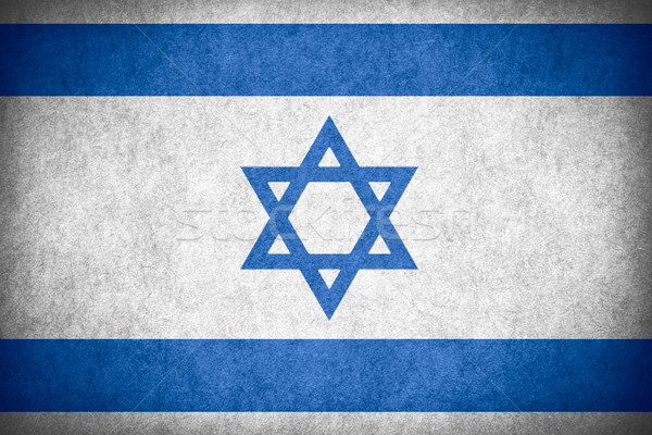 Bayrak İsrail İsrailli afiş kâğıt kaba Stok fotoğraf © MiroNovak
