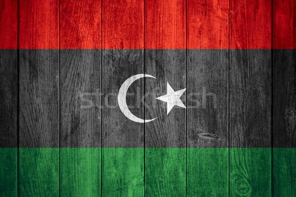 Banderą Libia banner tekstury tle Zdjęcia stock © MiroNovak