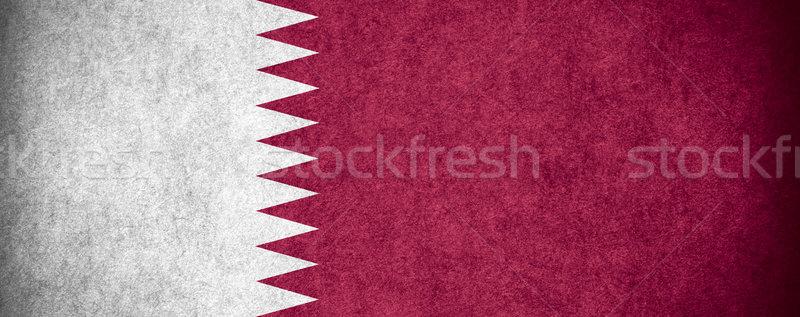 Banderą Katar banner papieru szorstki wzór Zdjęcia stock © MiroNovak