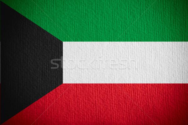 Zászló Kuvait szalag papír Stock fotó © MiroNovak