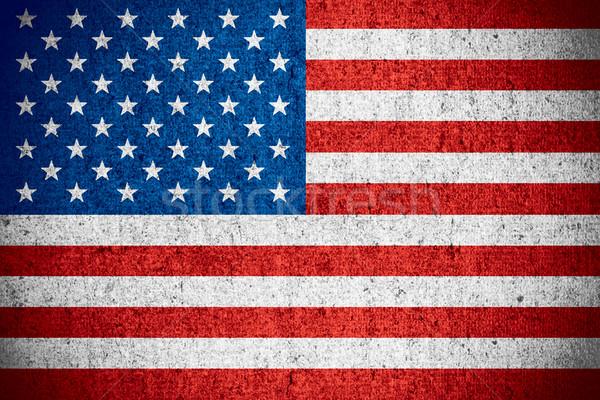 Amerika Birleşik Devletleri Amerika bayrak amerikan afiş kaba Stok fotoğraf © MiroNovak