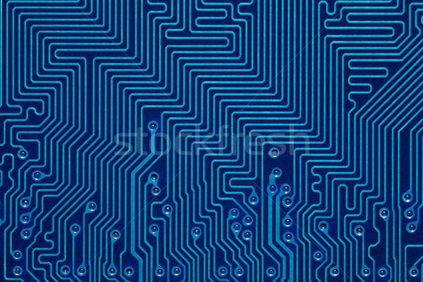 Blauw printplaat abstract computer textuur achtergrond Stockfoto © MiroNovak