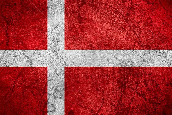 Bandeira Dinamarca bandeira áspero metal textura Foto stock © MiroNovak