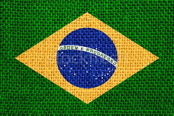 Bandeira Brasil bandeira textura Foto stock © MiroNovak