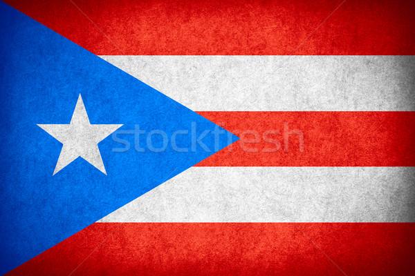 Vlag Puerto Rico banner papier ruw Stockfoto © MiroNovak