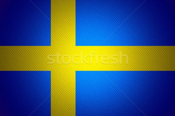 Bandeira Suécia bandeira abstrato textura Foto stock © MiroNovak