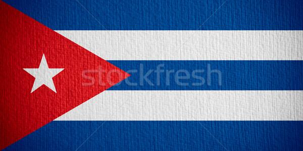 フラグ キューバ キューバの バナー 紙 ストックフォト © MiroNovak