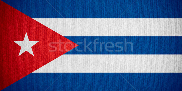 Bandiera Cuba banner carta Foto d'archivio © MiroNovak