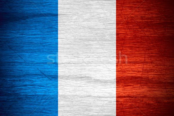 Bandeira França francês bandeira textura Foto stock © MiroNovak