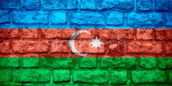 Bandera Azerbaiyán banner ladrillo textura Foto stock © MiroNovak
