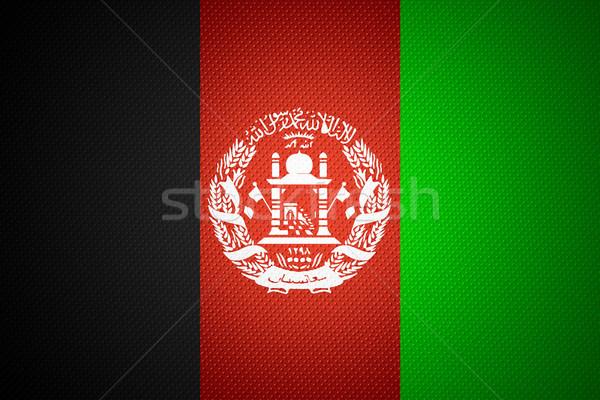 Zászló Afganisztán szalag absztrakt textúra Stock fotó © MiroNovak