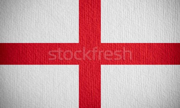 Zászló Anglia angol szalag papír Stock fotó © MiroNovak