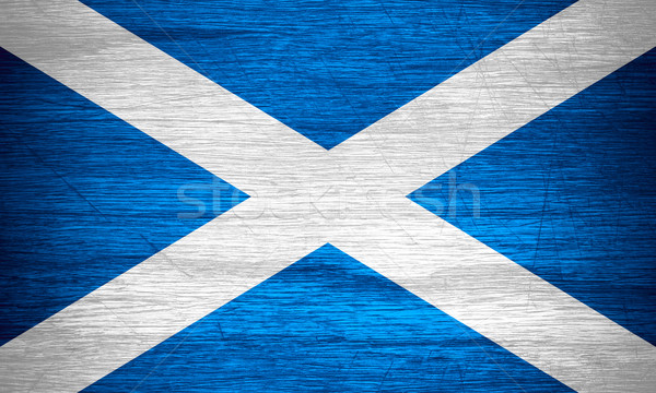 Zászló Skócia szalag fából készült textúra Stock fotó © MiroNovak