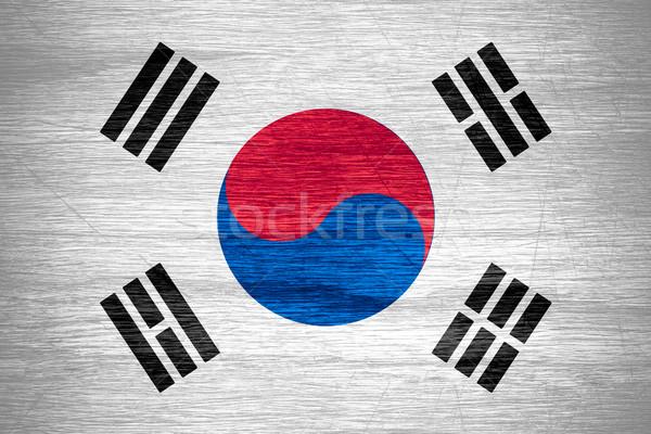 Coréia do Sul bandeira bandeira textura Foto stock © MiroNovak